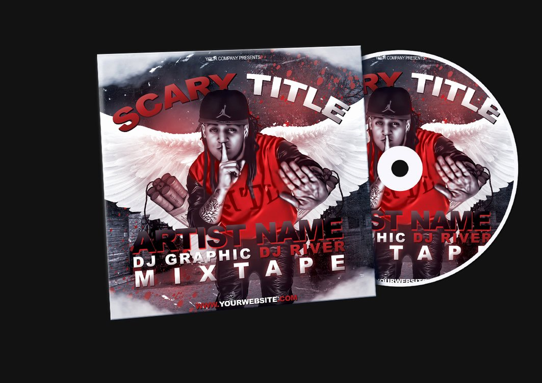 Cd Cover Template Psd Lovely Red Hip Hop Mixtape Album Cd Cover Psd Template by