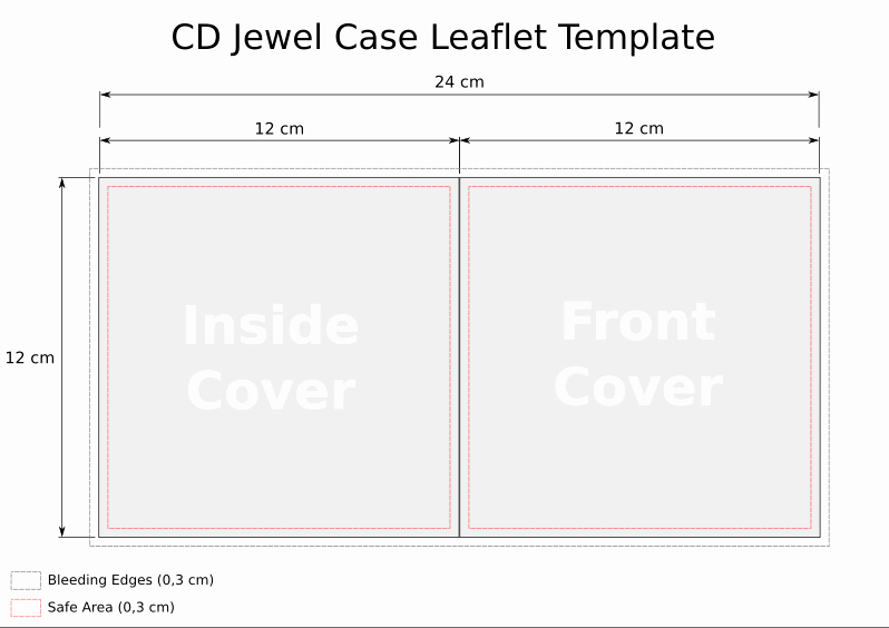 Cd Insert Template Word Unique Cd Template Jewel Case Leaflet