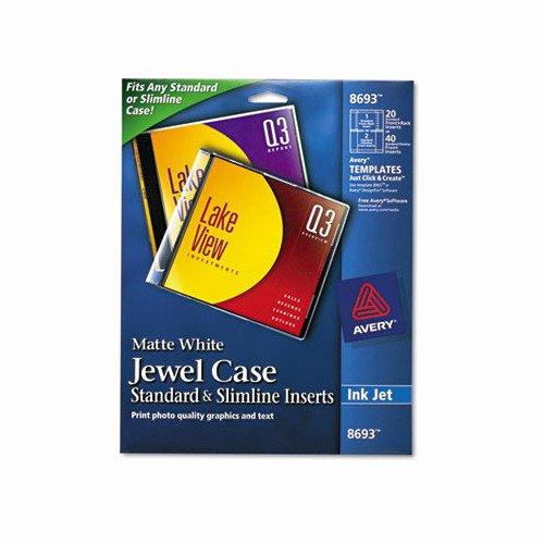 Cd Jewel Case Template Awesome Avery Inkjet Cd Dvd Jewel Case Inserts Ave8693 Shoplet