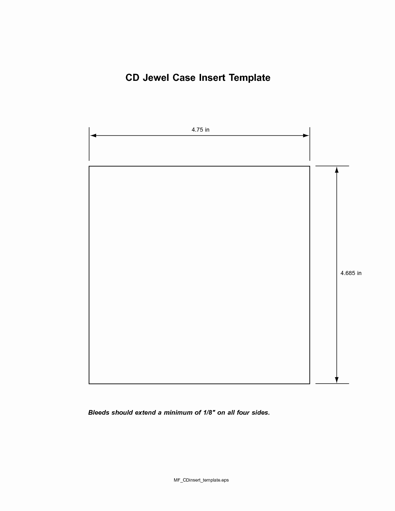 Cd Jewel Case Template Awesome Cd Insert Template