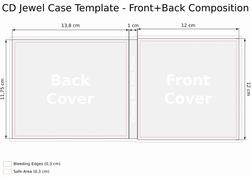 Cd Jewel Case Template Unique Cd Templates for Jewel Case In Svg