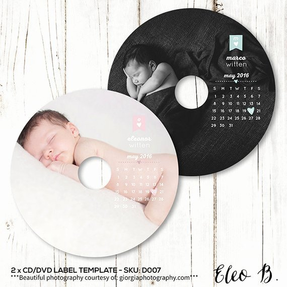 Cd Label Template Photoshop Beautiful Newborn Dvd Label Template Baby Cd Label Template Studio