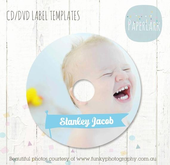 Cd Label Template Photoshop Lovely Cd Dvd Label Photoshop Template Es001 Instant Download