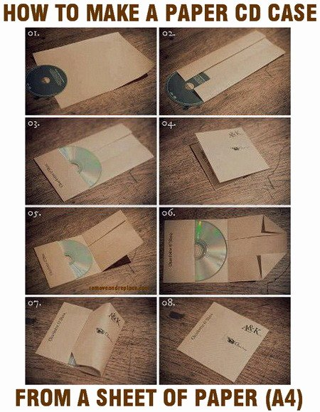 Cd Paper Sleeve Template Best Of How to Make A Cd Case Out Paper Easy Diy