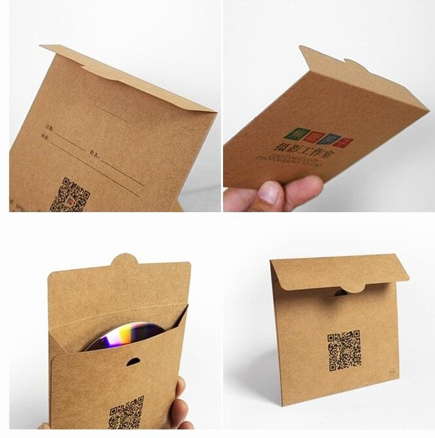 Cd Paper Sleeve Template Elegant 500pcs Custom Make Printed Kraft Paper Cardboard Cd Dvd