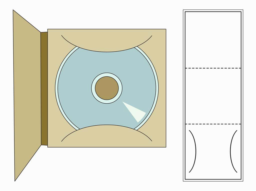 Cd Paper Sleeve Template Elegant Cd Case Template Vector Art & Graphics