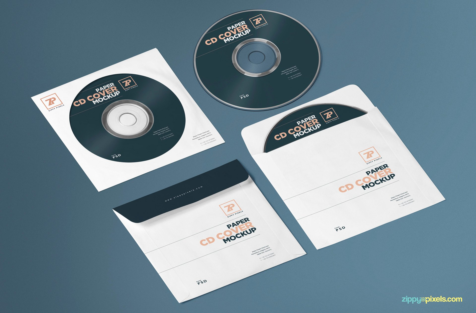 Cd Paper Sleeve Template Lovely Free Paper Cd Cover Mockup Cd Mockup Psd