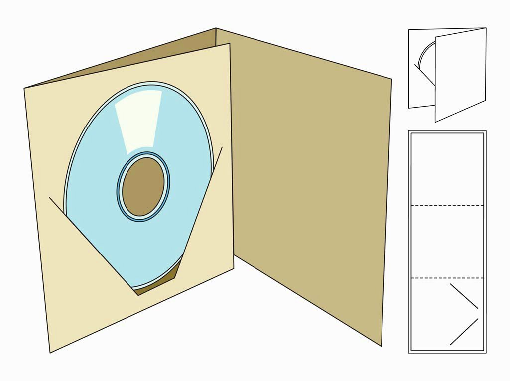 Cd Paper Sleeve Template New Cd Box Template Vector Art & Graphics