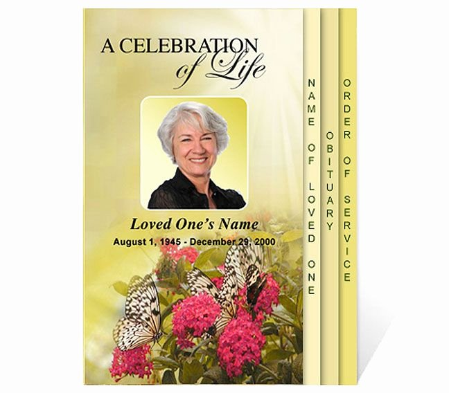 Celebration Of Life Template Beautiful Free Funeral Program Templates
