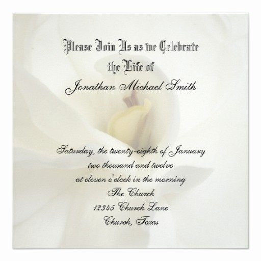 "Celebration Of Life Template Best Of Celebration Of Life Invitation 5 25"" Square Invitation"