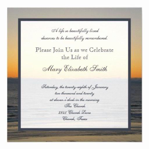 Celebration Of Life Template Best Of Celebration Of Life Invitation Pinterest