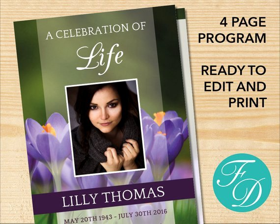 celebration of life printable funeral