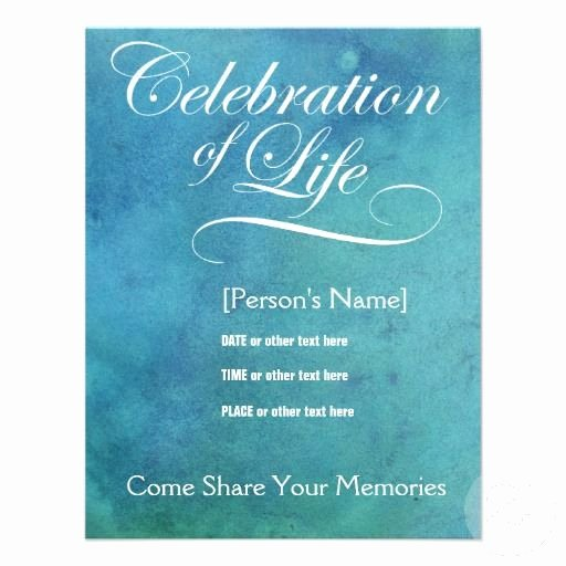 Celebration Of Life Template Best Of Elegant Celebration Of Life Memorial Invitation