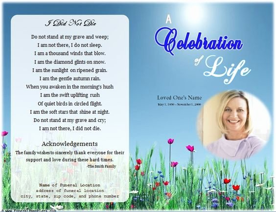 Celebration Of Life Template Best Of Loading Memorial Celebration Of Life Ideas