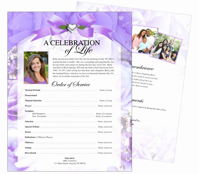 Celebration Of Life Template Elegant 12 Best Cards Funeral Templates & Programs Images On