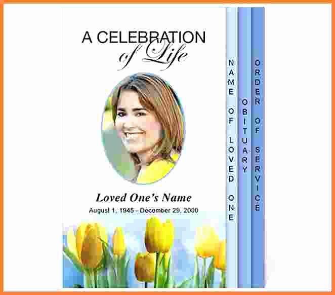 Celebration Of Life Template Elegant Celebration Life Template Funeral Program Templates