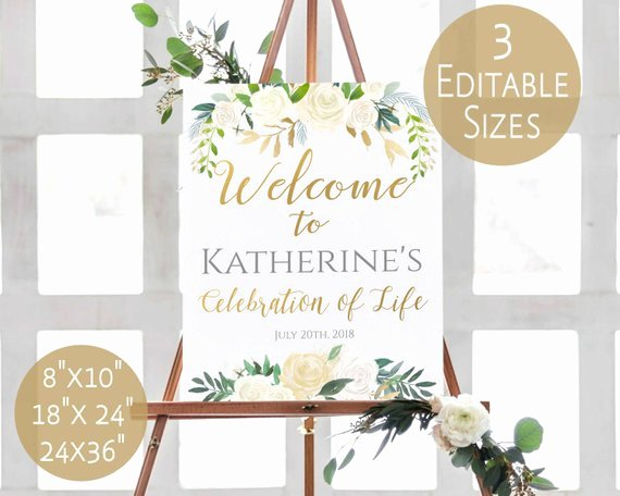Celebration Of Life Template Fresh Funeral Sign Template Celebration Of Life Memorial Sign