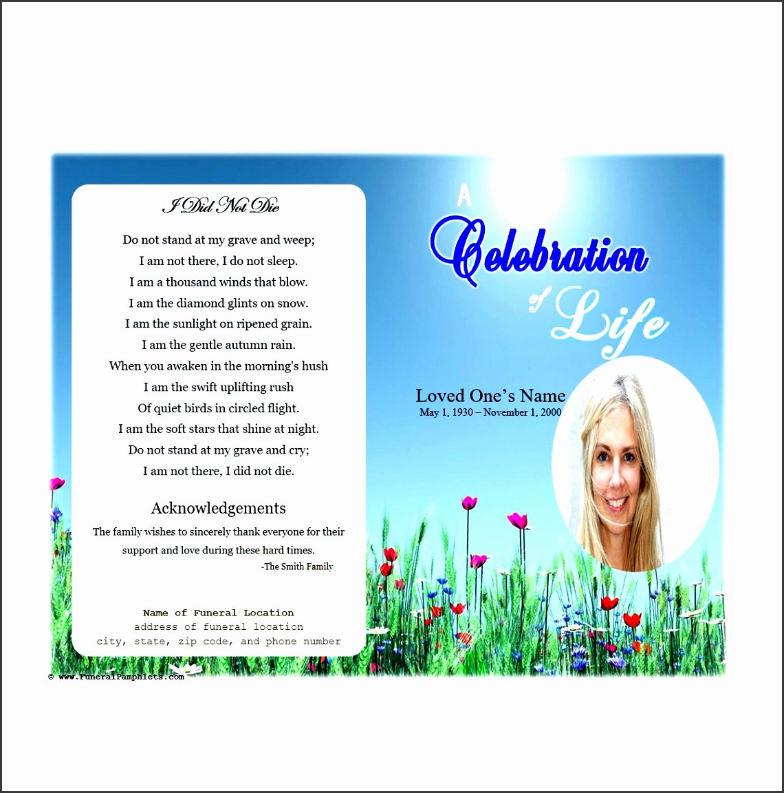 Celebration Of Life Template Luxury 9 Download Free Funeral Program Template