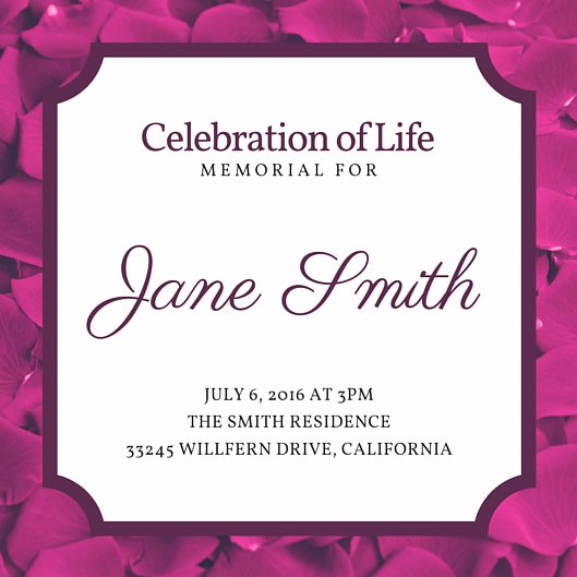 Celebration Of Life Template Luxury Customize 40 Funeral Invitation Templates Online Canva