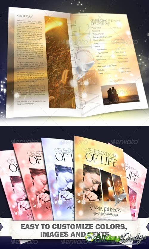 Celebration Of Life Template Luxury Free Print Funeral Brochures