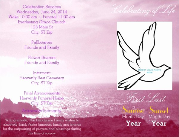 Celebration Of Life Template New 20 Funeral Flyer Templates Free & Premium Download