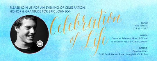 Celebration Of Life Template Unique Free Funeral and Memorial Line Invitations Evite