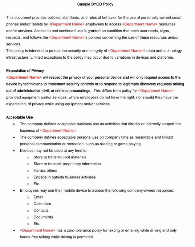 Cell Phone Policy Template Best Of Cell Phone Policy Workplace Sample Pdf