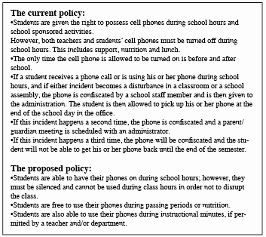 Cell Phone Policy Template Elegant Cell Phone Use Policy