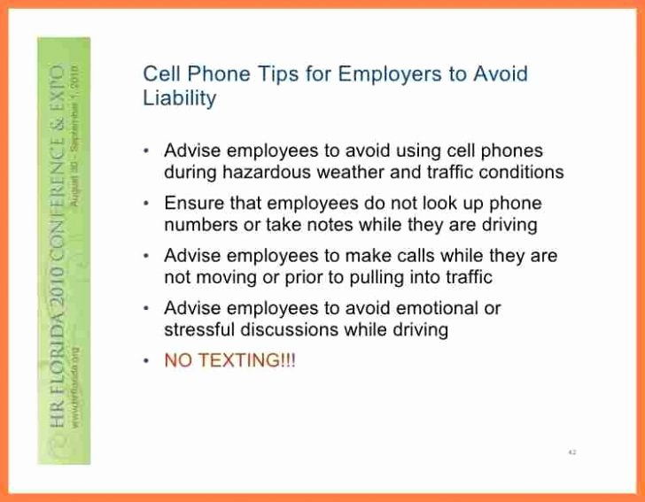 Cell Phone Policy Template Fresh Employee Cell Phone Policy Template Pccc