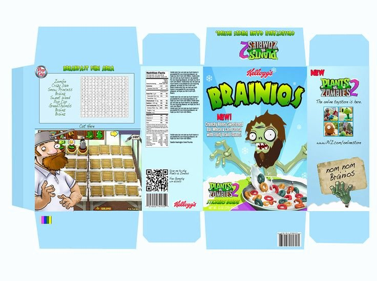 Cereal Box Design Template Lovely 58 Best Cereal Box Design Images On Pinterest