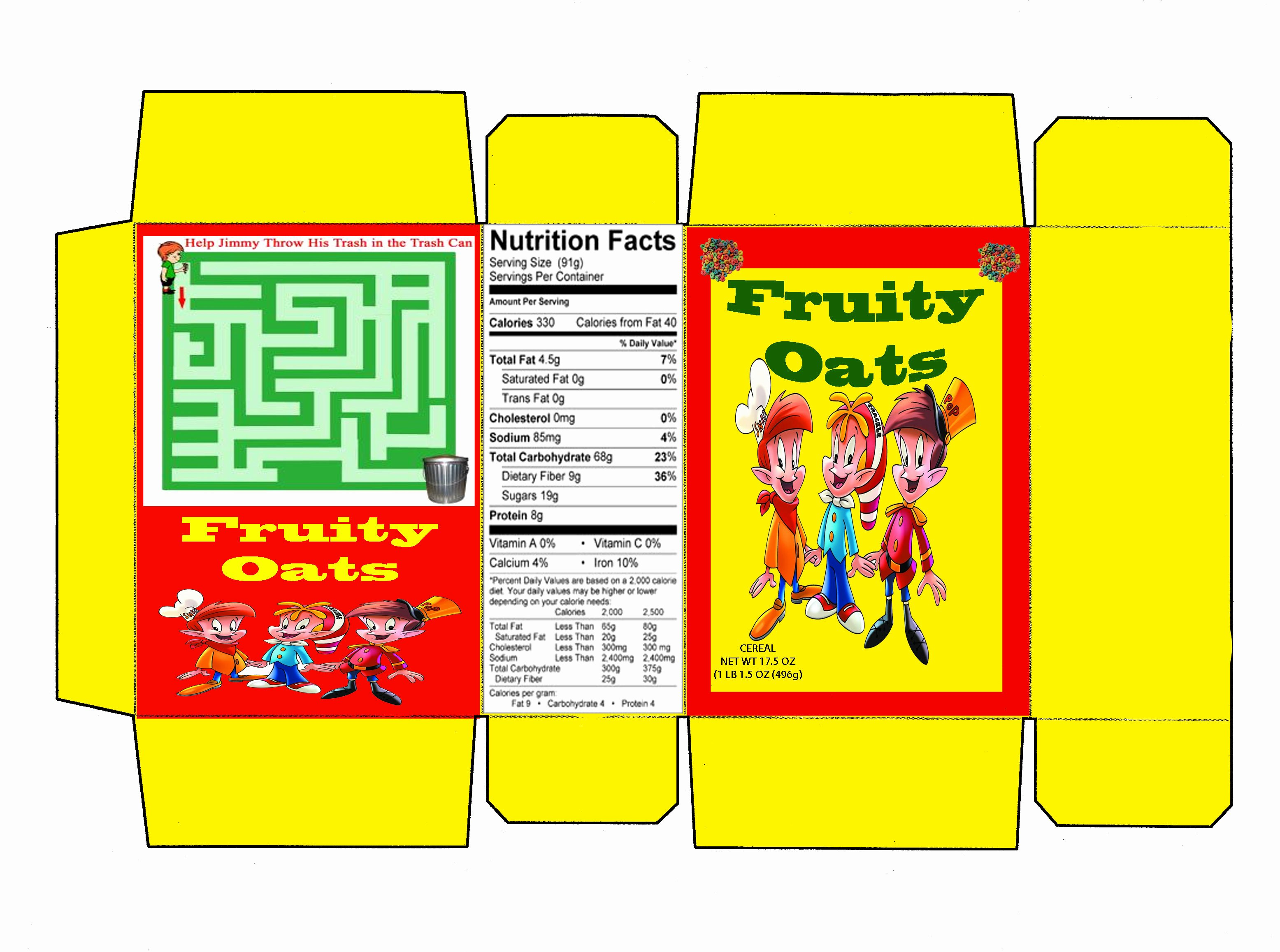 Cereal Box Design Template Luxury Cereal Box Template Illustrator