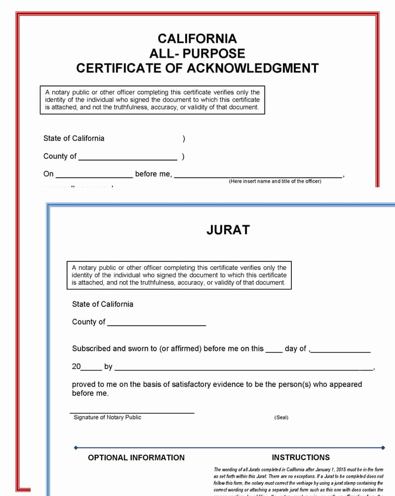 Certificate Of Acknowledgement Template Awesome S for Pj Notary Yelp