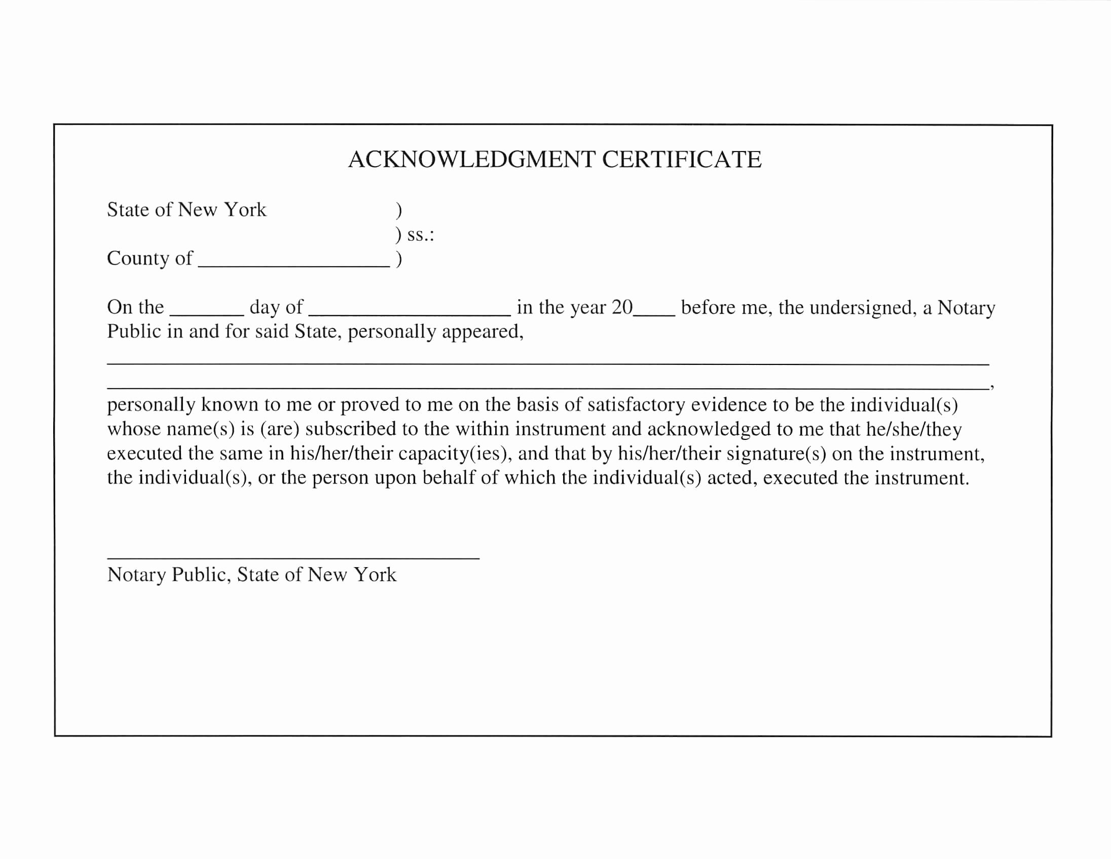 Certificate Of Acknowledgement Template Inspirational Ultimate Guide On How to Get An Apostille Done In New York
