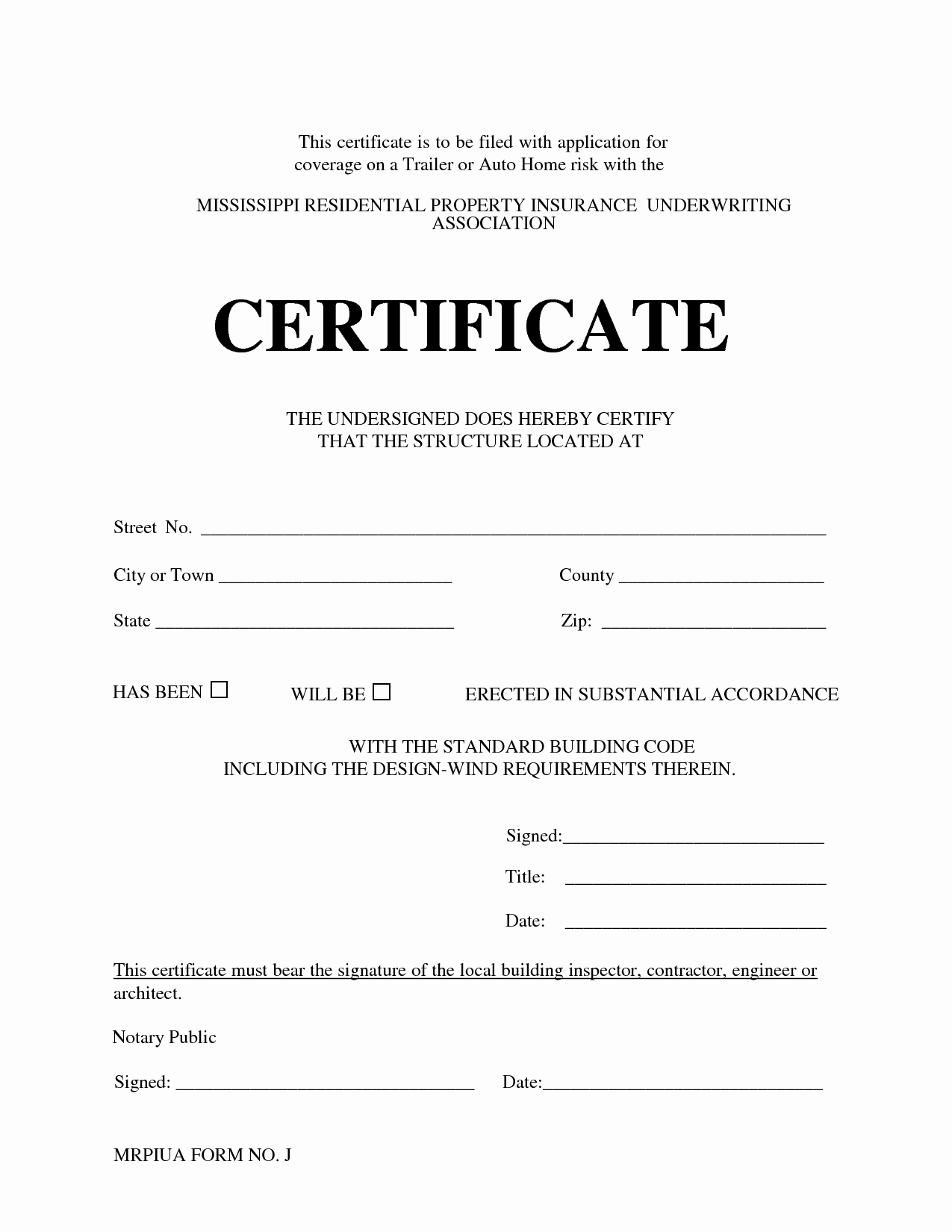 Certificate Of Acknowledgement Template Lovely Best S Of Notary Certificate Template Sample Of