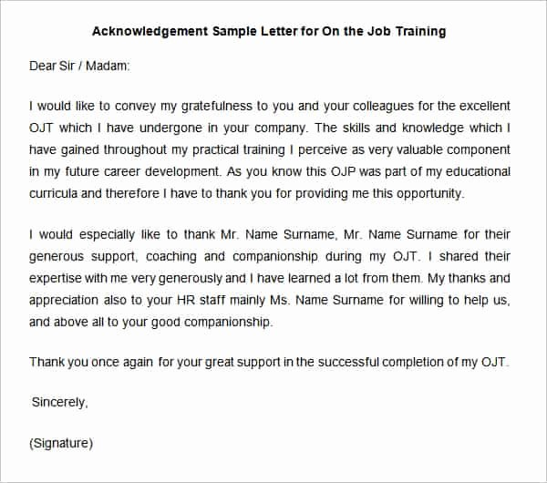 Certificate Of Acknowledgement Template New 38 Acknowledgement Letter Templates Pdf Doc