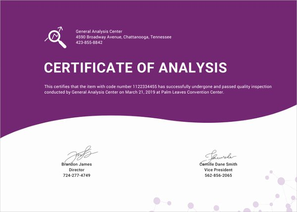 Certificate Of Analysis Template Awesome Word Certificate Template 49 Free Download Samples