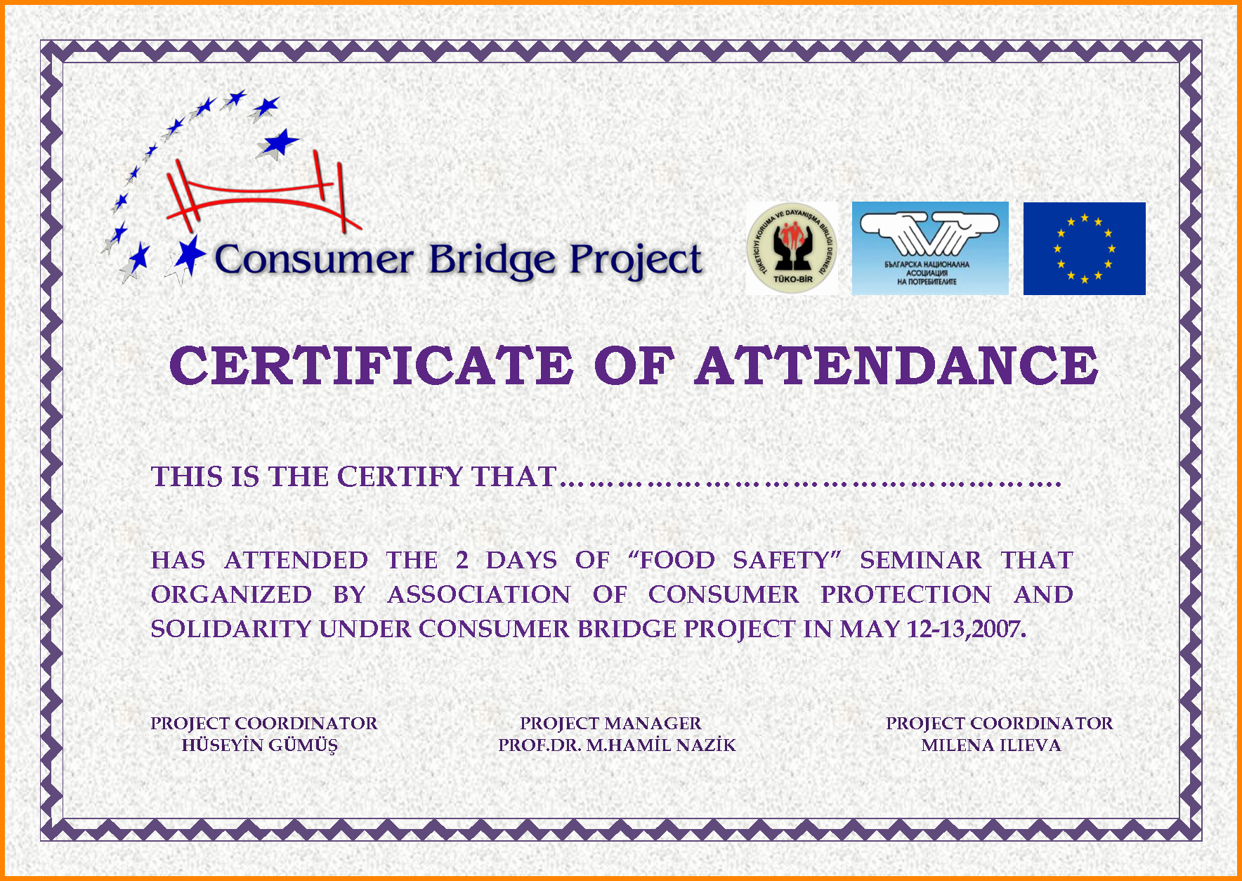 Certificate Of attendance Template Awesome 5 Certificate Of attendance
