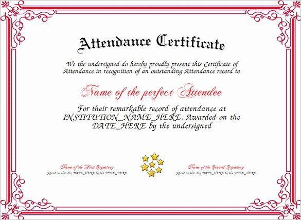 Certificate Of attendance Template Beautiful 21 attendance Certificate Templates Doc Pdf Psd