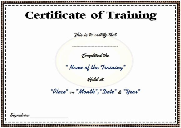 Certificate Of attendance Template Fresh Course attendance Certificate Template 10 Editable Word