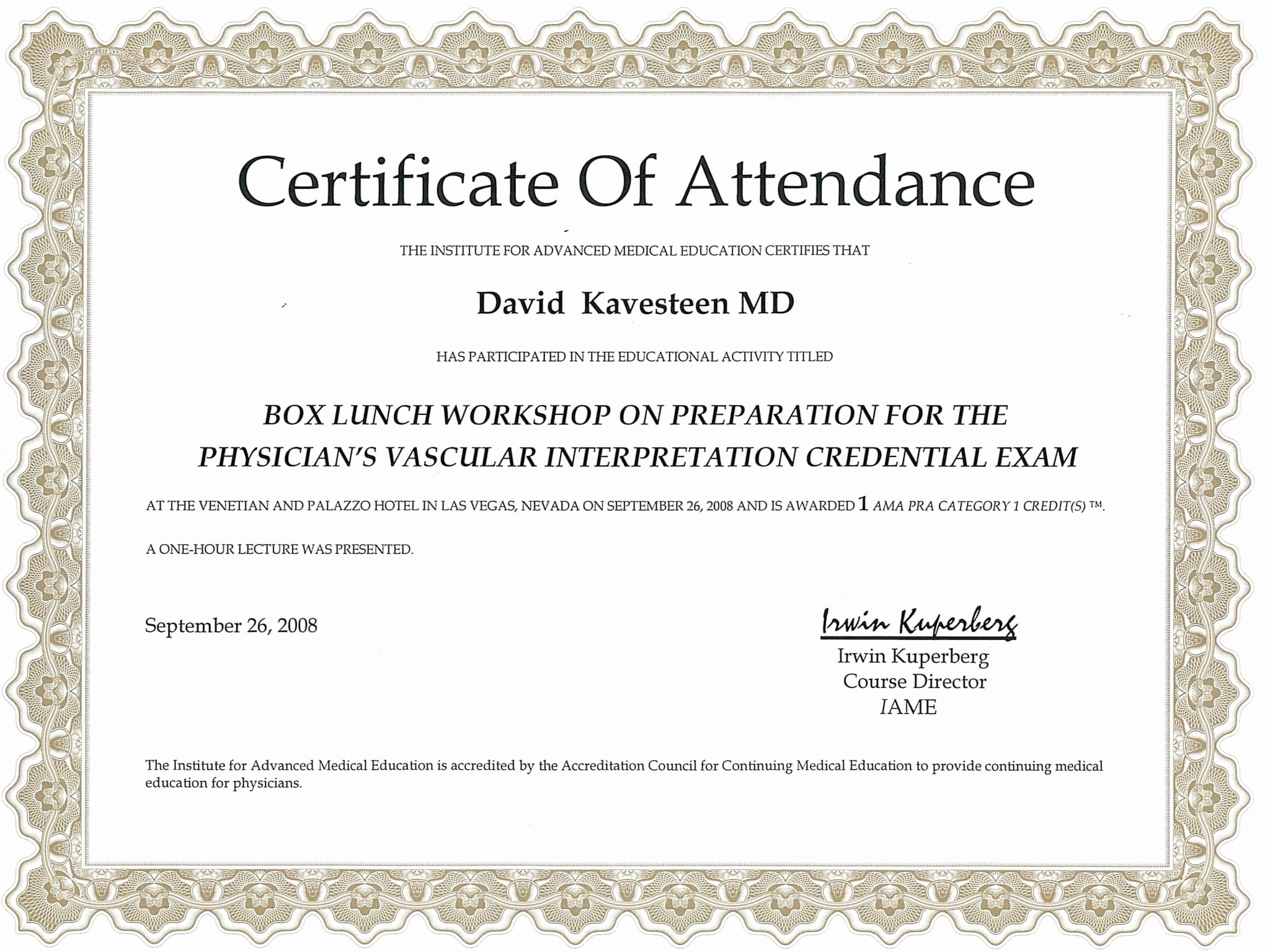 Certificate Of attendance Template Luxury 5 Certificate Of attendance Templates Word Excel Templates