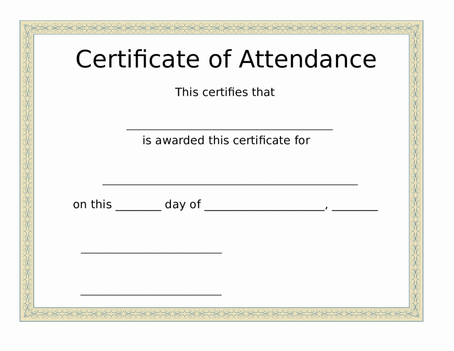 Certificate Of attendance Template Unique 2019 Certificate Of attendance Fillable Printable Pdf