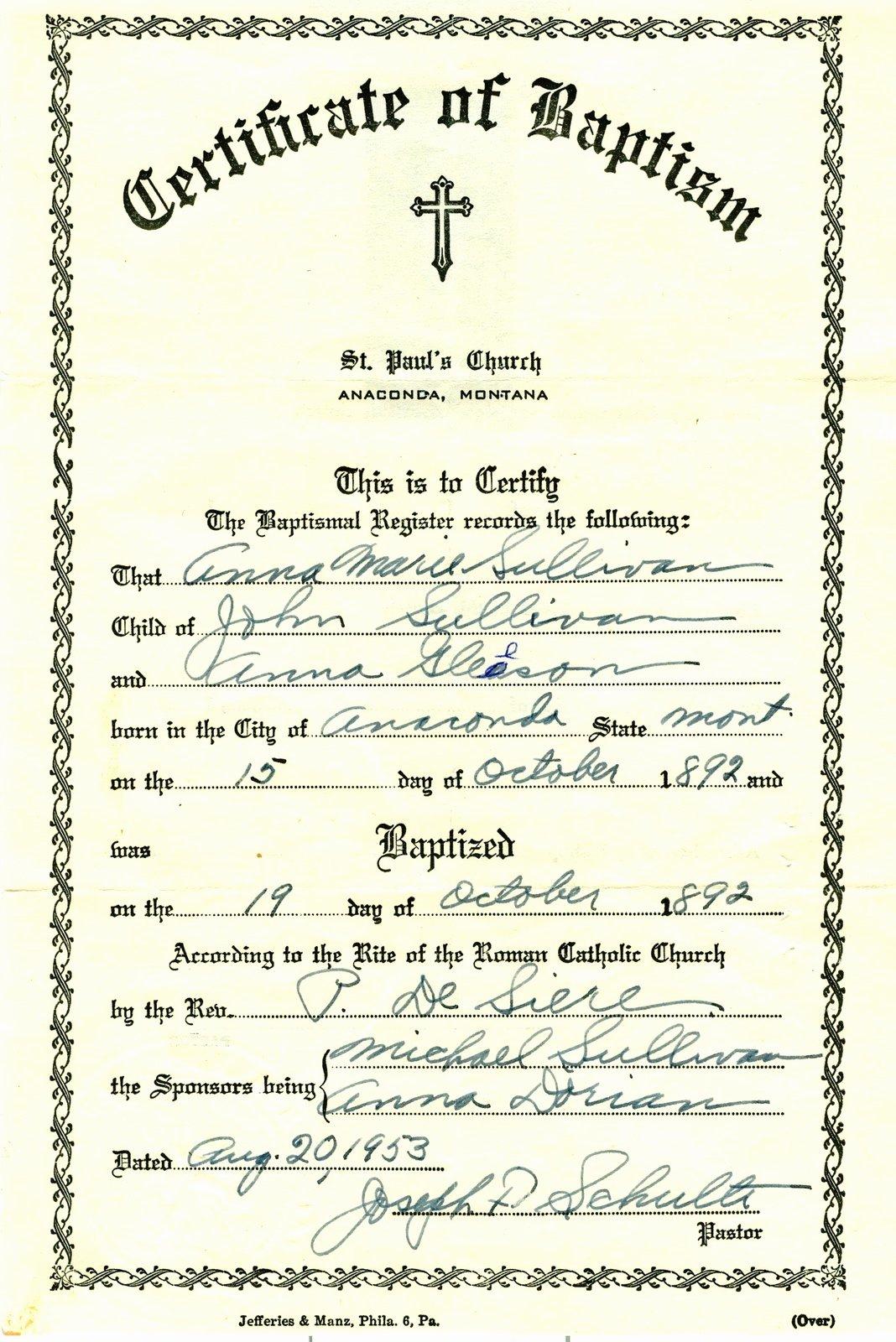 Certificate Of Baptism Template Beautiful Baptism Certificate Template
