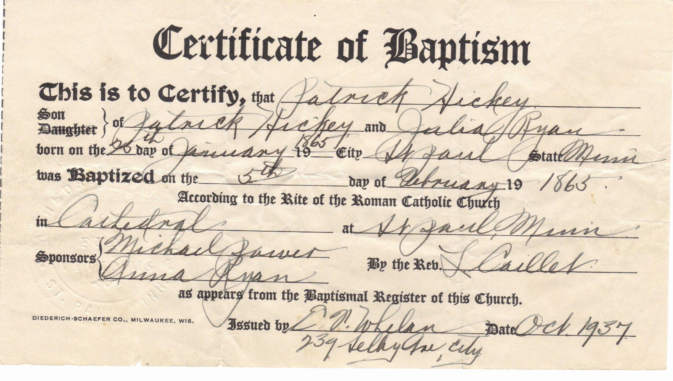 Certificate Of Baptism Template Beautiful Certificate Baptism Certificate