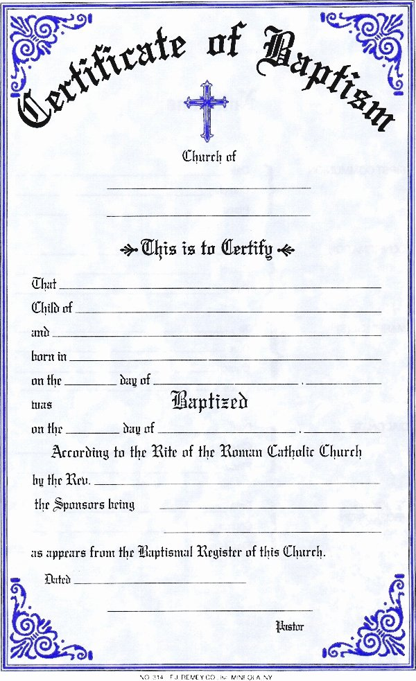 Certificate Of Baptism Template Best Of Baptism Certificate Template Invitation Template