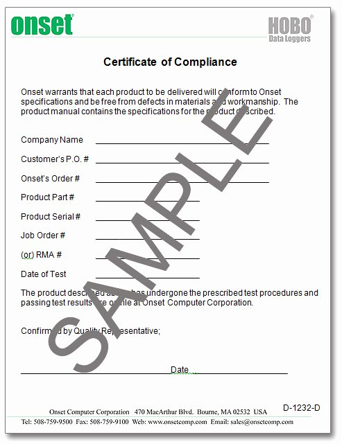 Certificate Of Compliance Template Beautiful Pliance Certificate Pliance Cert