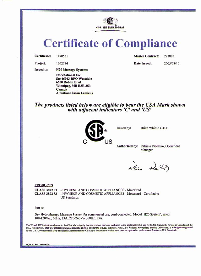 Certificate Of Compliance Template Lovely Generic Certificate Of Pliance Video Search Engine at
