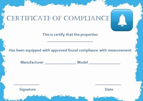 Certificate Of Compliance Template Unique 16 Downloadable and Printable Certificate Of Pliance