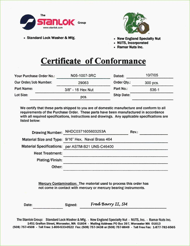 Certificate Of Conformance Template Beautiful Letter Conformity format – thepizzashop