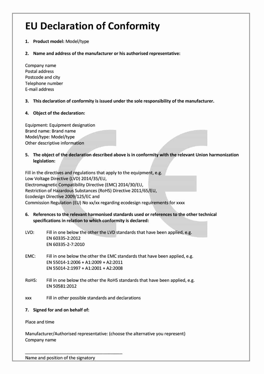 Certificate Of Conformance Template Fresh 40 Free Certificate Of Conformance Templates & forms