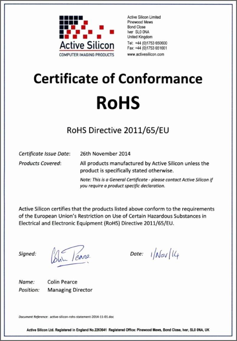 Certificate Of Conformity Template Elegant Certificate Conformance Template